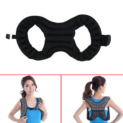 Weighted Vest Home Gym Running Fitness Weight loss Strength Jacket 5 8 & 10kg UK