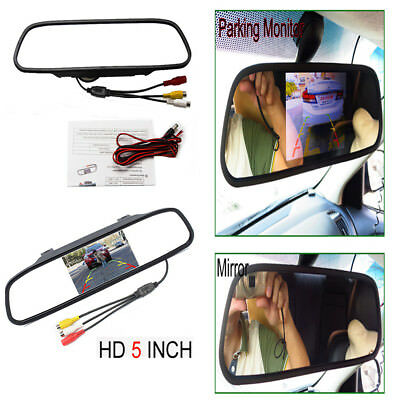 "5"" LCD TFT Color Screen Auto Car Reverse Parking Rear View Backup Mirror Monitor"