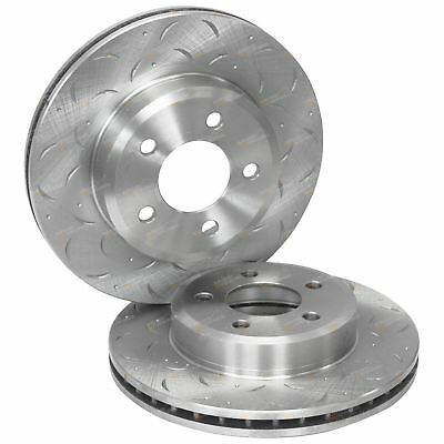 2 Front Drilled Slotted Disc Brake Rotors Falcon BA BF FG XT 02-12 LTD XR6 XR8