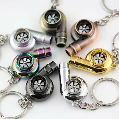 Nice Real Whistle Sound Turbo Keychain Spinning Turbine Key Chain Ring Keyring #