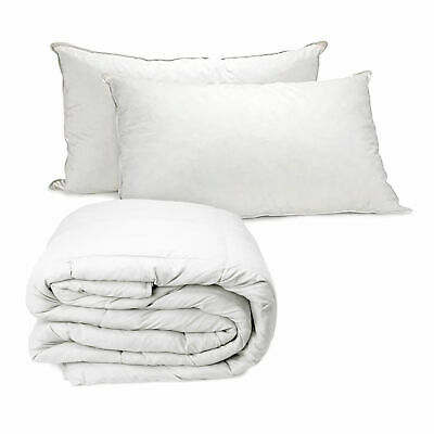 Royal Comfort Value Combo Goose Summer Quilt + Twin Pillow Queen Bed
