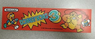 Donkey Kong 3 marquee sticker. 2.5 x 10.5. Buy any 3 stickers, GET ONE FREE!