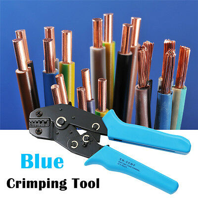 Ratchet Cable Crimper Stripper Electrical Ferrule Wire Crimping Plier Hand Tool