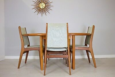 DELIVERY£65 Mid Century Retro Danish Set 4 Teak Dining Chairs Laurits M Larsen