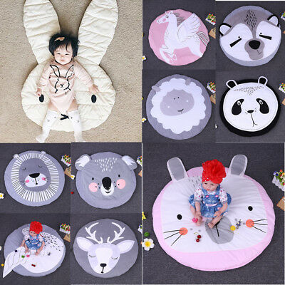 US Soft Cotton Baby Kids Play Mat Gym Activity Crawling Blanket Floor Rug Carpet