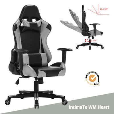Racing Gaming Office Chair Computer Executive Recliner Adjustable Swivel Leather