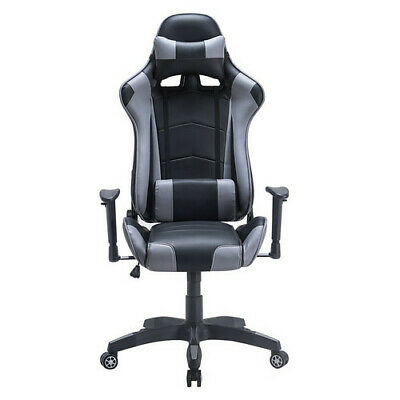 Executive Computer Racing Gaming Office Chair Recliner Adjustable Swivel Leather