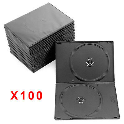 100 SLIM Case Black Double DVD Cases