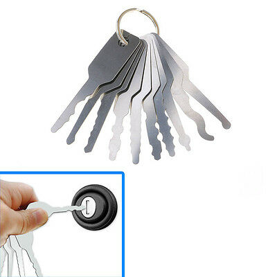 10 Jiglerg Key Car AUTO Unlock Key Picking Tool Unlock Repair Stainless Steel DY