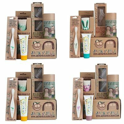 Jack n Jill Kids Toddler Organic Oral Care Toothbrush Gift Pack Set MIX N MATCH