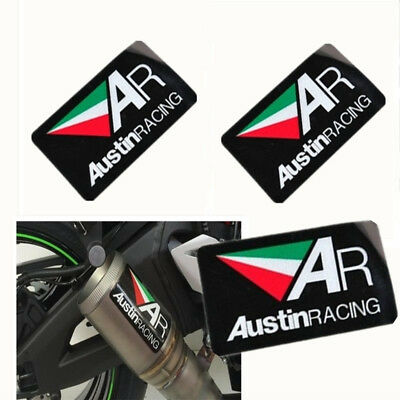 3PCS AR Motorcycle Exhaust Pipe Sticker Racing Heat-Resistant 10cmX6cm