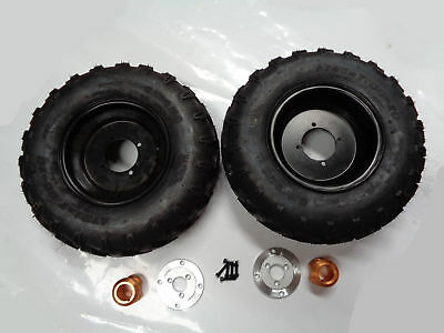 10 Inch Wheels With Hub & Adapter For 40Mm Axle Pair