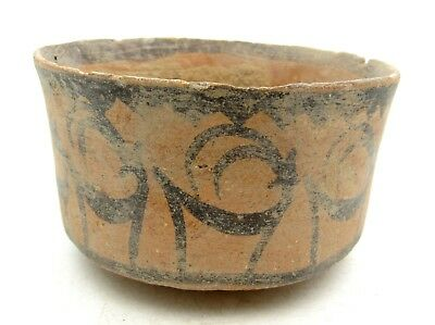 Indus Valley Terracotta Bowl W/ Deer Motif - Rare Ancient Artifact Lovely - L835