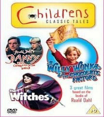 ROALD DAHLS TALES DVD Danny The Champion Of The World Witches Willy Wonka NEW UK