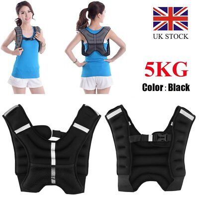 Weighted Vest Gym Running Fitness Sport Training Weight Loss Strength Jacket 5KG