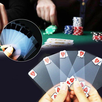 Waterproof Durable Clear PVC Poker Playing Card Plastic Creative Table Gaming