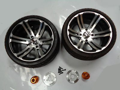 14 Inch Alloy Low Profile Wheels With Hub & Adapter For 30Mm Axle Pair