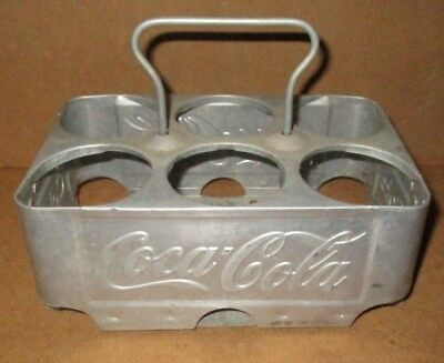 1950's Embossed Coca Cola Aluminum Bottle Carrier