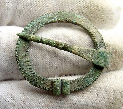 Medieval Viking Bronze Omega Brooch - Ancient Historic Artifact Lovely - C298