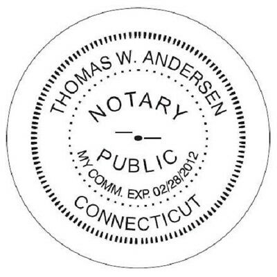 State of CONNECTICUT  | Custom Round Self-Inking Notary Public Stamp Ideal 400R