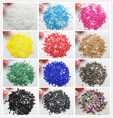 Preciosa 2mm 800pc AB Tube Bugle Beads Czech Glass Seed Beads Jewelry Making