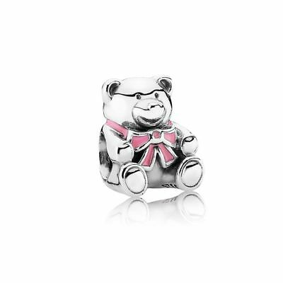 Genuine Pandora Baby Girl Teddy Bear Charm #Baby Shower #New Born #Perfect Gift