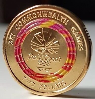 ⚡️Rare Red Colour Coin - Royal Australian Mint Special Edition UNC 2018 2 Dollar