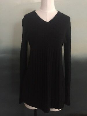 GAP Maternity long sleeve women black sweater size XL ribbed knit v neck