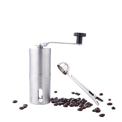 Manual Hand Coffee Mini Grinder Ceramic Burrs Crank Ground Nuts Beans Herb Spice