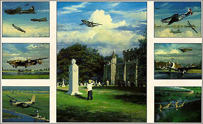 William S. Phillips Lest We Forget Aviation Art Signed