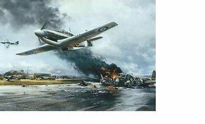 Frank Wootton Look No Hands Aviation Art P-51 SIGNED
