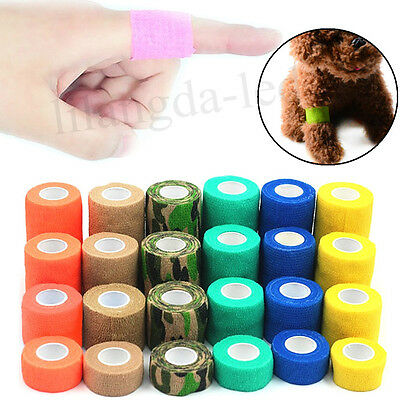 A Roll Of Pet Dog Cat Animal Self-adhesive Non Woven Vet Wound Bandage Wrap Tape