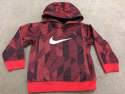 Nike Therma-Fit  Pullover Hoodie boy's Size 3T  Red/Black
