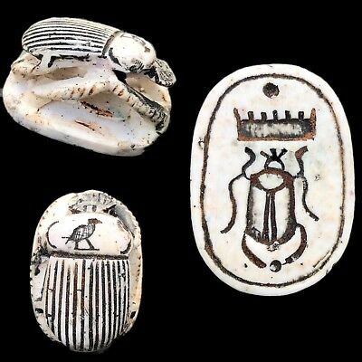 Egyptian Grand Tour Inscribed Scarab