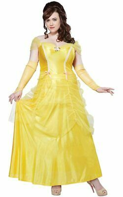 Belle Beauty And The Beast Plus Size Adult Womens Fancy Dress Costume