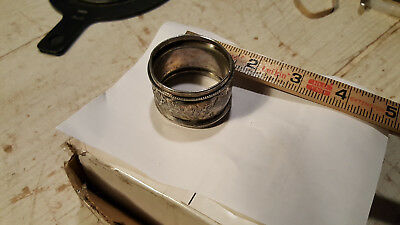 """Silver Napkin Ring Holder  Onate Engraving """"AJL to Carrie"""""""