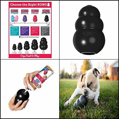 World's Best Dog Toy KONG Extreme Rubber Chew Toy For Dogs Stuffing Treats Sizes