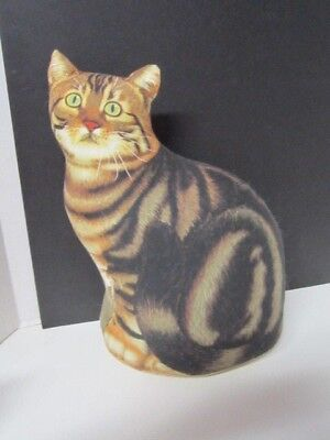 Patty Reed Designs Tabby Cat Stuffed Cat Pillow