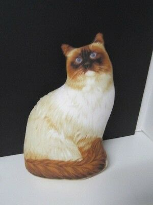 Patty Reed Designs Siamese Fluffy Cat Stuffed Cat Pillow