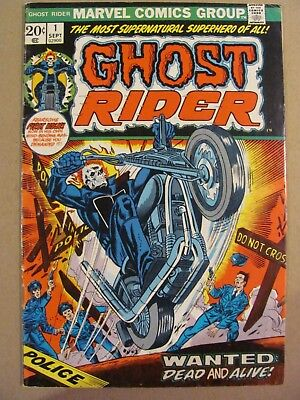 Ghost Rider #1 Marvel Comics 1973 Series 5.0 Very Good/Fine