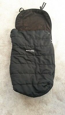 Maclaren Universal Footmuff in Black - used very good condition