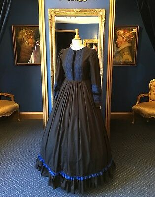 Stunning Theatrical Victorian Style Governesses Dress, Fantastic  Detailing.