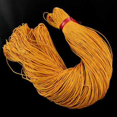 ORANGE WAXED COTTON CORD 10 metres x 1mm Shamballa Macrame Jewellery Making