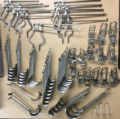 Lot of 9 Balfour Abdominal Retractors and 44 Blades - Jarit, Aesculap, other