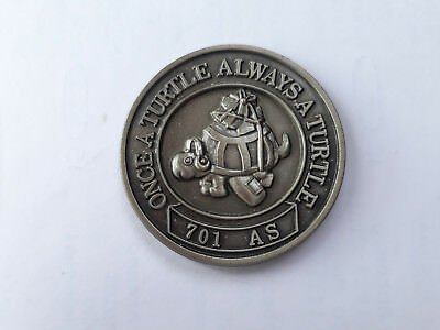 Challenge Coin  701As Once A Turtle Alwaysa Turtle 25 Years Excellence 1970-1995