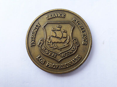 CHALLENGE COIN LOS PROFESIONALES 24th WING COMMANDERS COIN BLUE FLAG HOWARD AFB