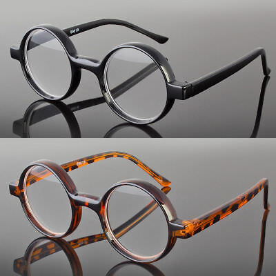 New Black Tortoise Round Oval Reading Glasses Readers John Lenon Harry Potter