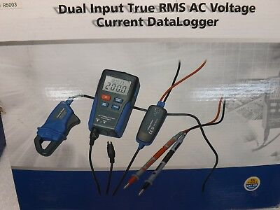 REED R5003 USB Data Logger Dual Channel Input True RMS