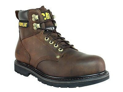 Caterpillar Second Shift SG ST  Steel Toe  Mens Work  Safety Brown Leather Boots