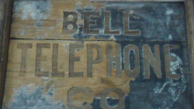 19th Century BELL TELEPHONE CO. Antique Wooden Sign -Rare Piece of Phone History